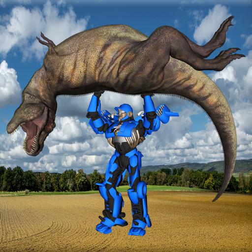Robot Dinosaur War