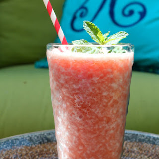Frozen Strawberry Rhubarb Lemonade.