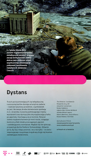 Tył ulotki filmu 'Dystans'