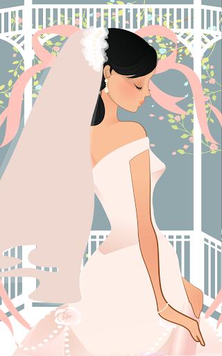 ウェディングドレスで花嫁