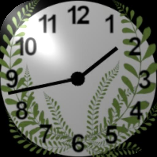 Aesthetic Green Wild Grass White Widget Clock