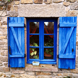 Window by Dobrin Anca - Buildings & Architecture Architectural Detail ( sky, window, green, street, brittany )