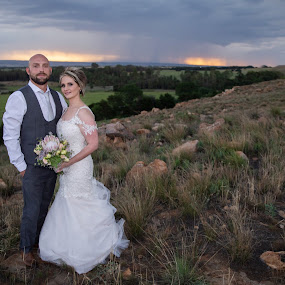 Nature showing off by Louise Lacante - Wedding Bride & Groom ( bride and groom, nature, weather )