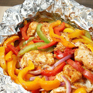 Chicken Fajita Foil Packet Meal.