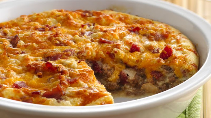 Impossibly Easy Bacon Cheeseburger Pie