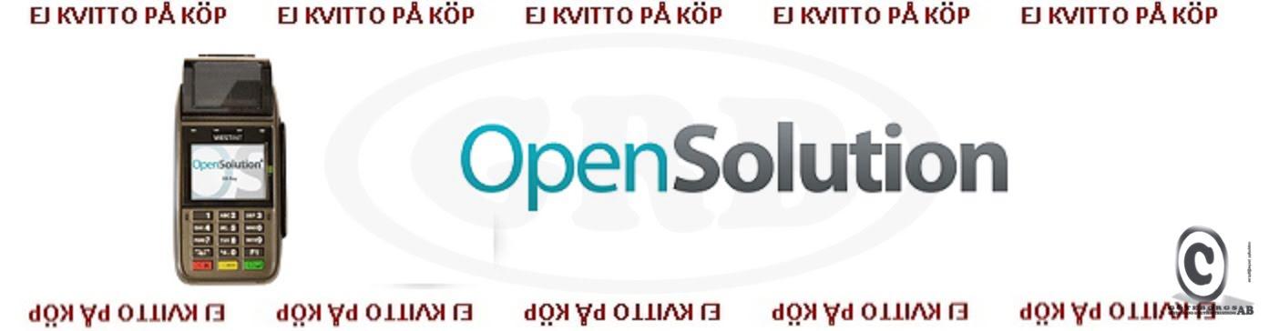OpenSolution kontokortsrullar