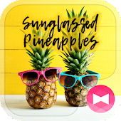 Summer Wallpaper Sunglassed Pineapples Theme