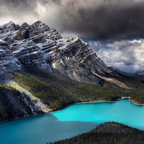 Bill's Lake by Don Guindon - Landscapes Mountains & Hills ( stormy, mountains, park, peyto lake, banff )