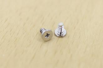 Photo: 銀色の太めのネジ(タッピング3mm)