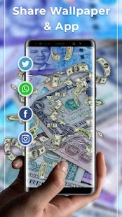 Falling Money Free live wallpaper - náhled