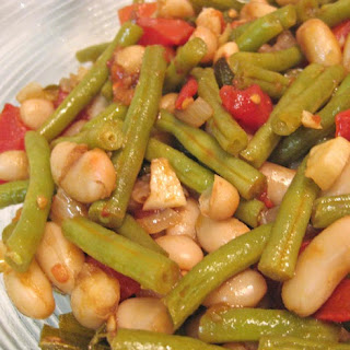 Green and White Beans, Tomatoes, Shallots and Sage