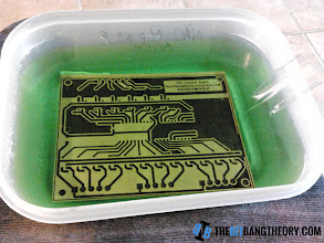 Photo: Etching the PCB