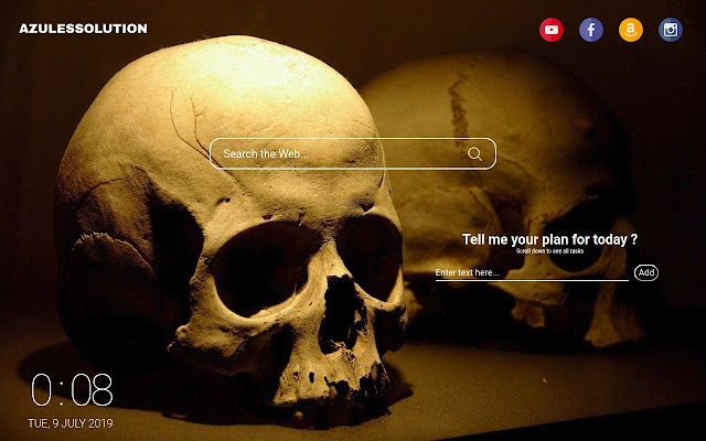 Skull Wallpaper - New Tab Theme