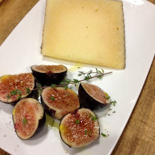Manchego with Fresh Figs & Thyme.