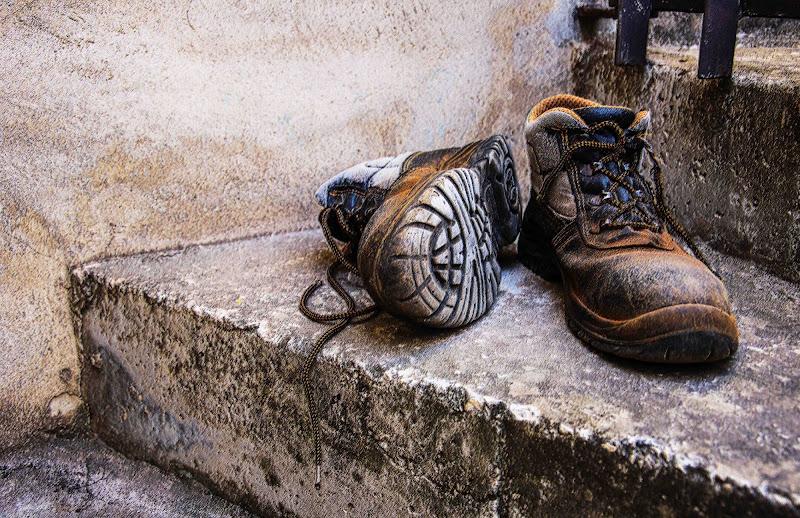 Vecchie scarpe da lavoro di MaryAngel