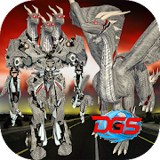 Multi Dragon Robot Warrior vs Monsters City Battle