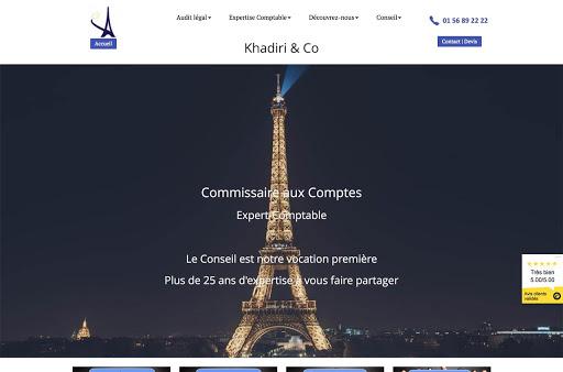 site internet d'expert comptable Khadiri
