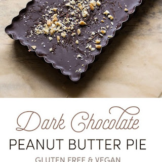 Gluten Free & Vegan Chocolate Peanut Butter Pie inspired by Girl Scout Cookies!