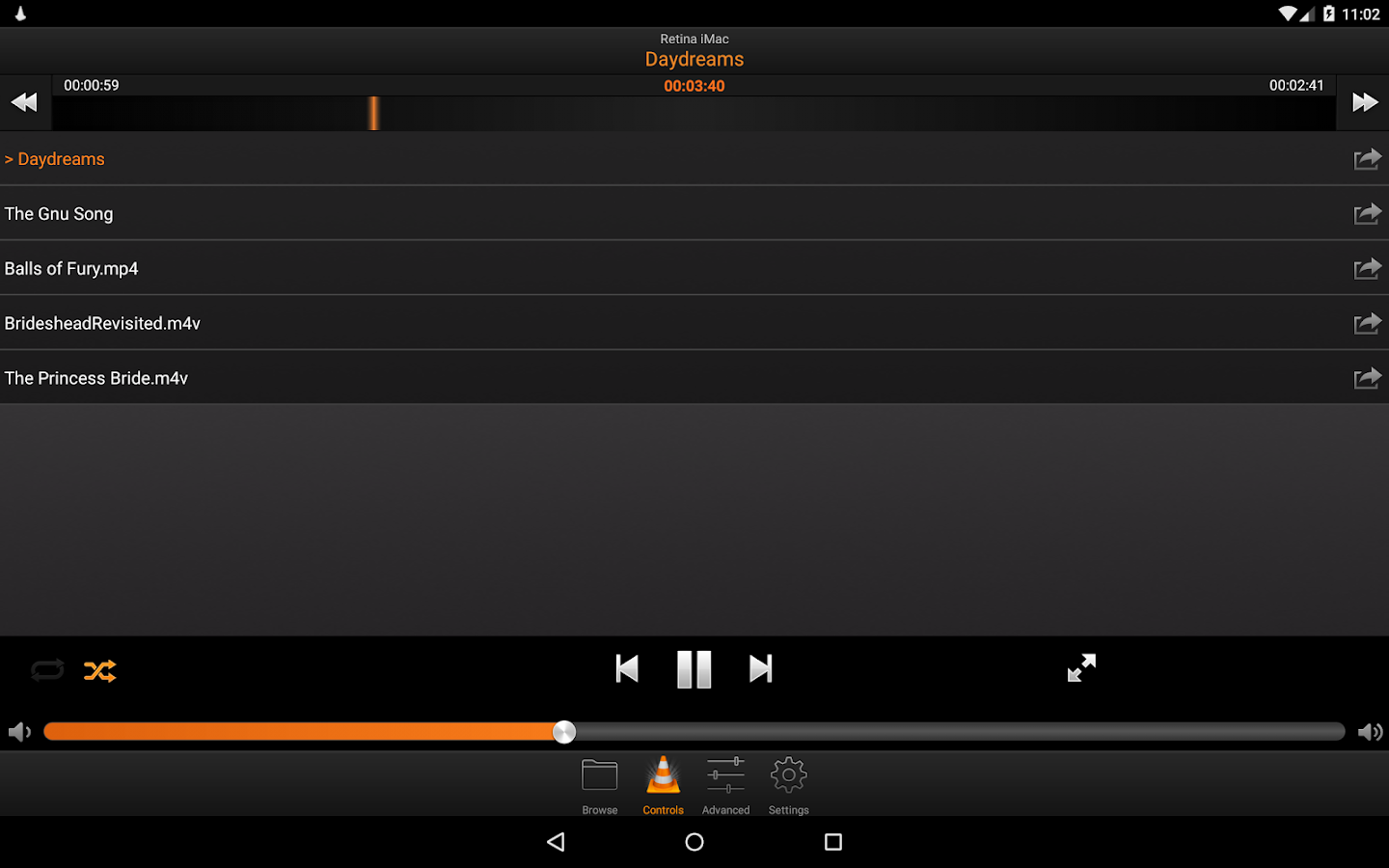 VLC Remote Free- screenshot