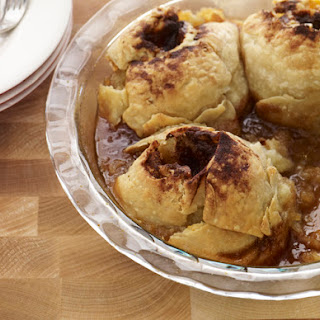 Apple Dumplings with Cinnamon Caramel Sauce