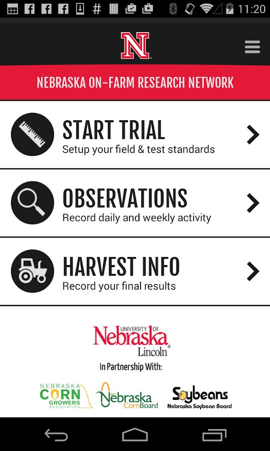 Nebraska On-Farm Research Net.- screenshot