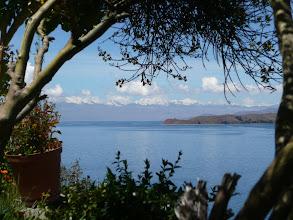 Photo: die Königskordillere von der Isla del Sol aus