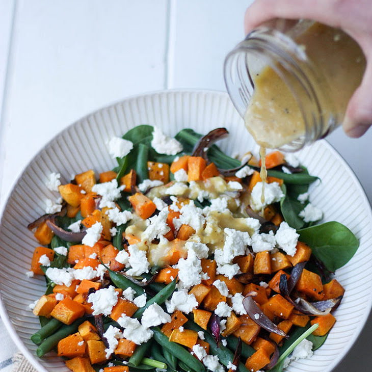 Pumpkin, Feta & Green Bean Salad Recipe