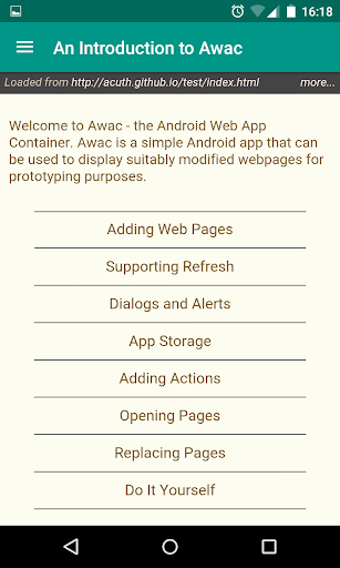AWAC Android Web App Container