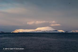 Photo: Hamnøya, an island outside Ålesund, covered with snow