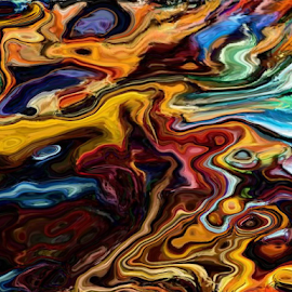 Artistic Fluidity by Amada Gonzalez - Painting All Painting ( digital, art, fluid, abstract, bold )