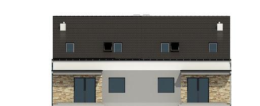 Mazurek z garażem 1-st. bliźniak A-BL1 - Elewacja tylna
