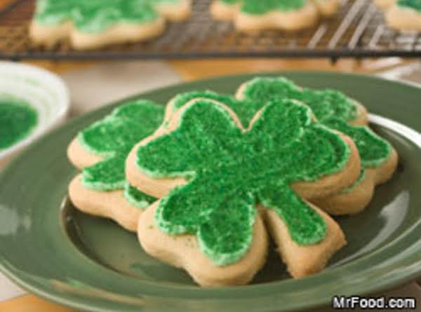 Shamrock Shortbread Cookies Recipe