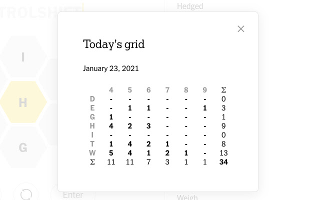 Spelling Bee Grid