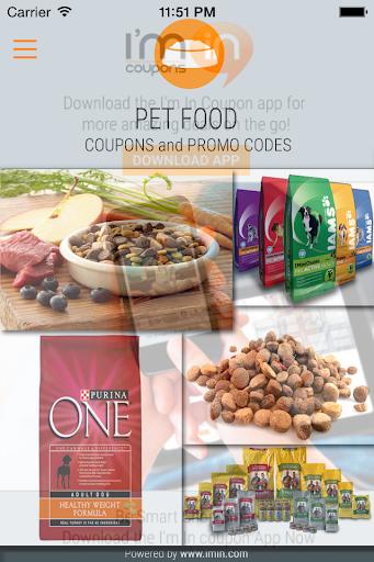 Pet Food Coupons - I'm In
