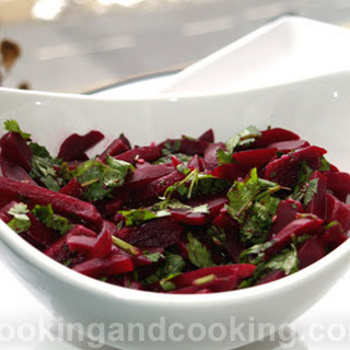 Beet and Coriander Salad.
