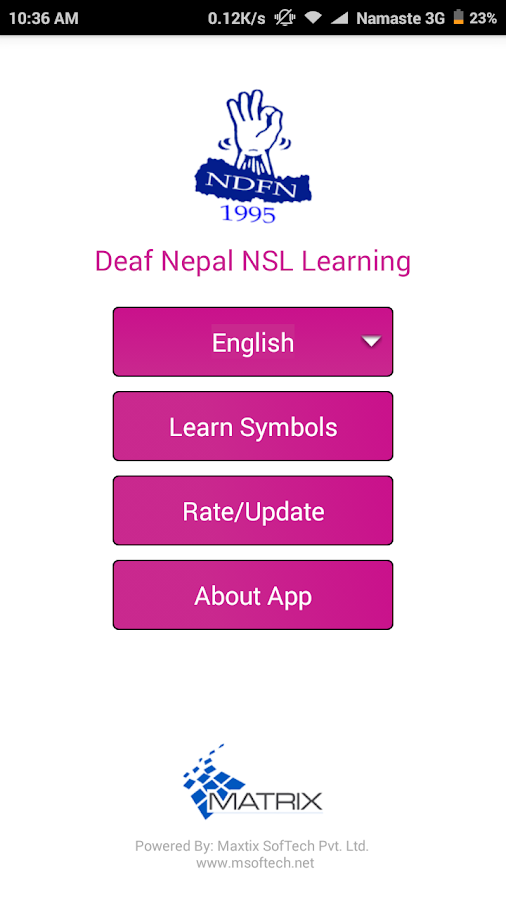 Deaf Nepal NSL Learning- screenshot