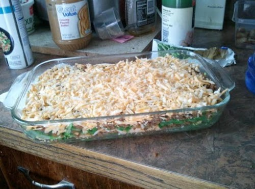"""Low Carb Green Bean Lasagna Casserole """"This dish is amazing! I added..."""