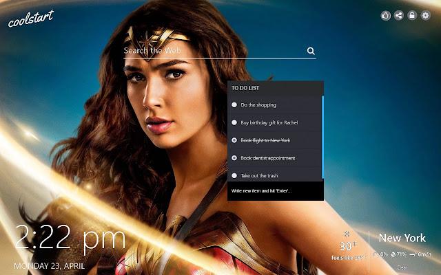Wonder Woman Hd Wallpapers New Tab Theme