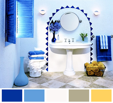 Mediterr neo interior principales caracter sticas y for Greek style bathroom design