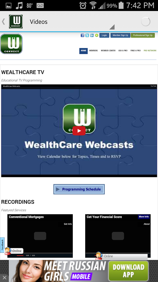 WealthCare Radio- screenshot