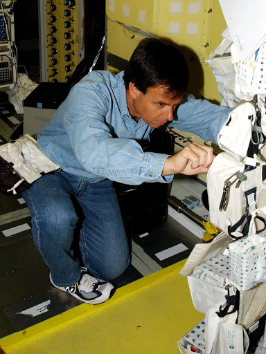 Ilan Ramon checks and the primary payload is the first flight of the SHI Research Double Module.