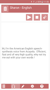 Acapela TTS Voices- screenshot thumbnail