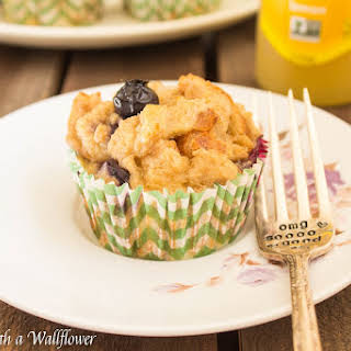 Baked Blueberry Coconut French Toast Cups.