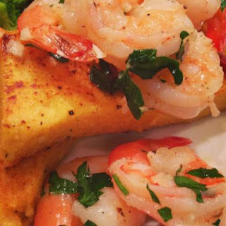 "Roasted Shrimp & ""Fried"" Polenta"