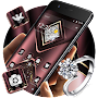 Carmine Velvet Glitter Diamond Theme APK icon
