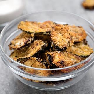 Baked Vegan Eggplant & Zucchini Chips