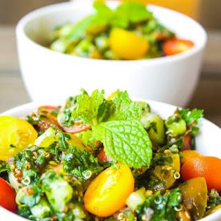 Turnip Greens Tabbouleh w/ Quinoa.