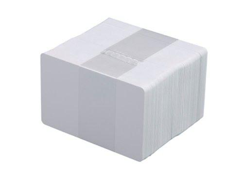 Papperskort vit kartong
