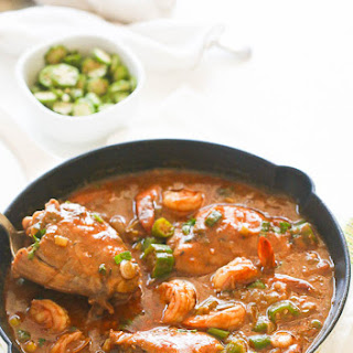 Chicken Shrimp and Okra Gumbo.