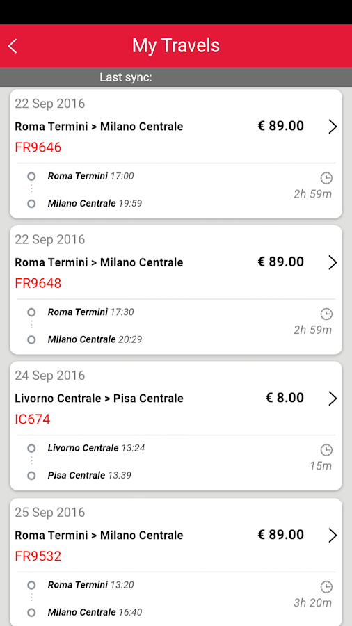 Trenitalia- screenshot